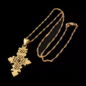 Jewelry - Gold Plated Cross Pendant Necklace Jewelary